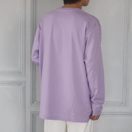 Do you like purple? 刺繍ロングTシャツ(パープル)