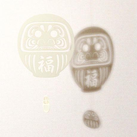 だるま福「WHITE」#paper ornament
