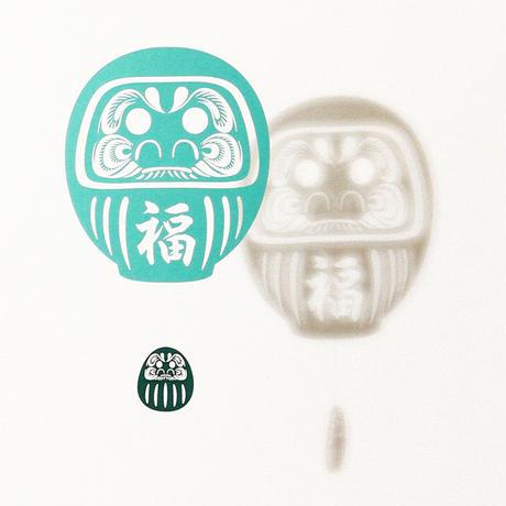だるま福「GREEN」#paper ornament
