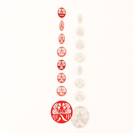 だるま七転八起「RED」#paper ornament