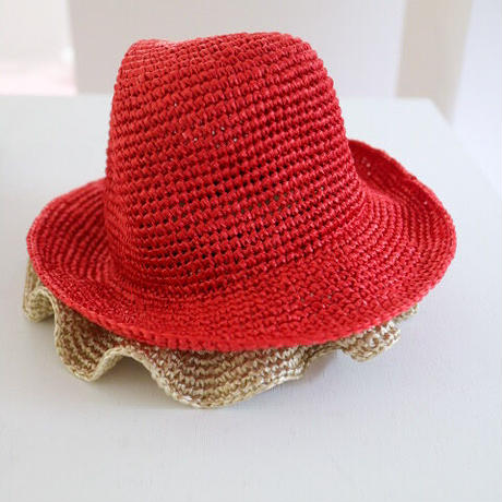 """BLANC"" Violet Crochet Bucket / Two Tone"
