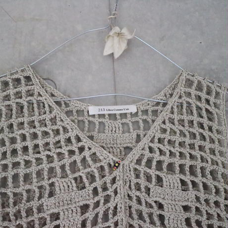 Hand Knited Vest Natural