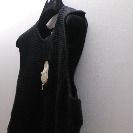 """""""GABRIELE SKUCAS"""" Balta Pele Knit Vest"""