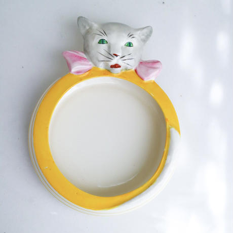 Vintage cat bowl