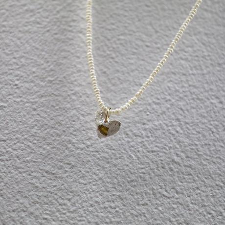 Alterita Jewerly/silver ×sea glass mini heart on  pearls