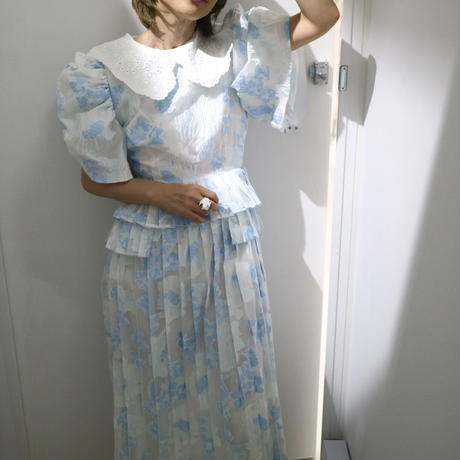 """DREAMsisterjane"" Rally Floral Pleated Midi Dress"