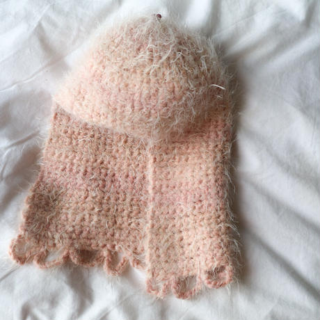 "MILOU....knit hat...""light  pink"""