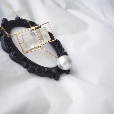 Imago  optical calcite & pearl necklace