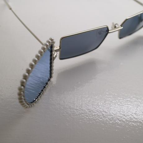 """Percy Lau""artificial pearls glasses"