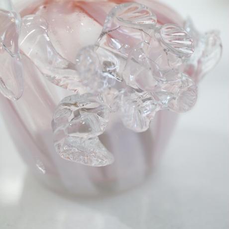 """Vintage glass vase""""K"""""""