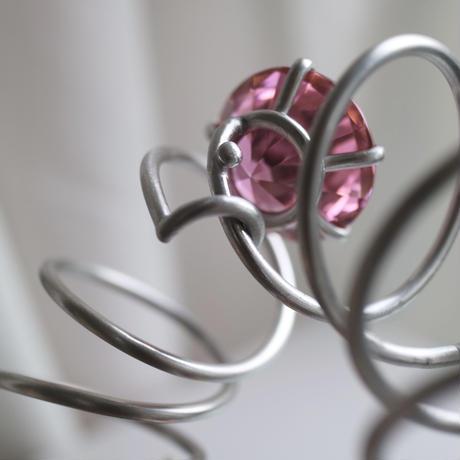 コイルバングル ピンク