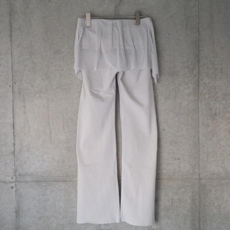 Tulle Slit Pants Gray