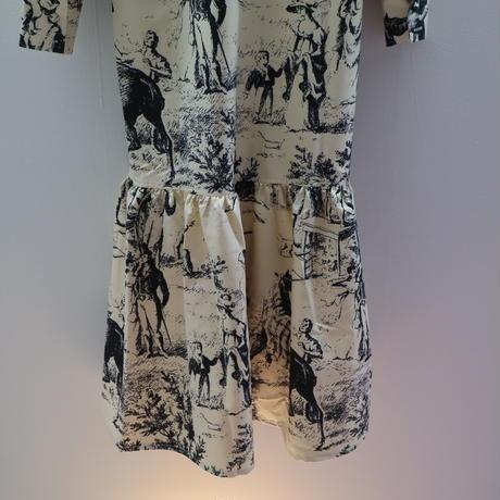JOHN French Scenic Printed Dress