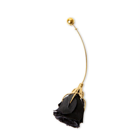 "Black rose earring ""BEATRIZ PALACIOS"""
