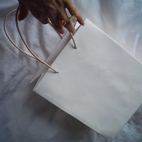 "Leather Paper Bag Light Pink ""M""『UNKOWN PRODUCTS』"