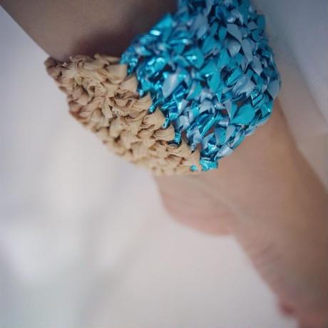 Knit Bangle Turquoise