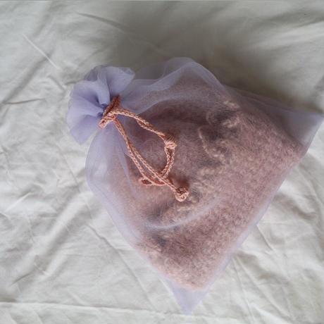"""MILOU...knit hat"""" antique pink"""
