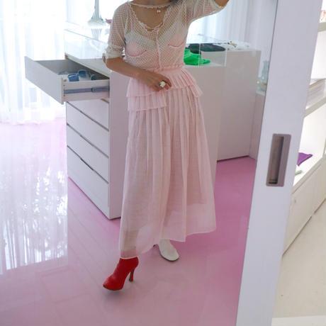 """""""DREAMsisterjane"""" Ace Floral Pleated Midi Skirt"""