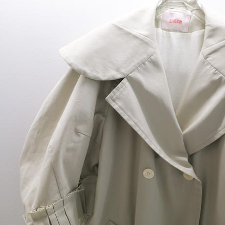 """SIIILON""FRILL TRENCH COAT"