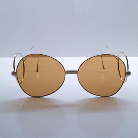 """Percy Lau""Round brown nylon lens glasses"