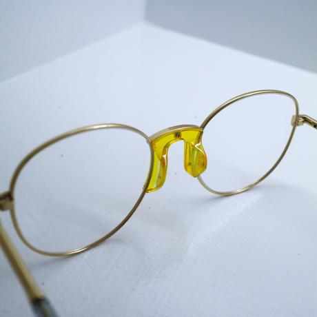 """Percy Lau""yellow&metal glasses"