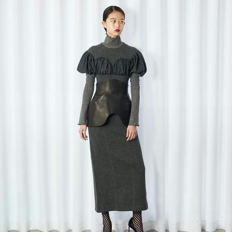 """""""FETICO"""" Leather circle cut apron"""