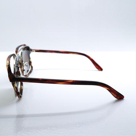 """Percy Lau""brown square lens glasses"