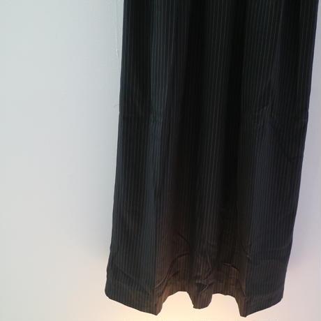JOHN NAVY STRIPED DRESS WITH PILGRIM COLLAR