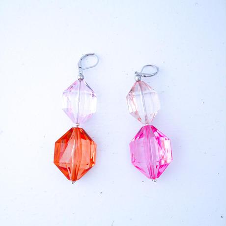 FLORIAN PINK&ORANGE EARRINGS