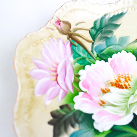 "Vintage flower plate""X"""