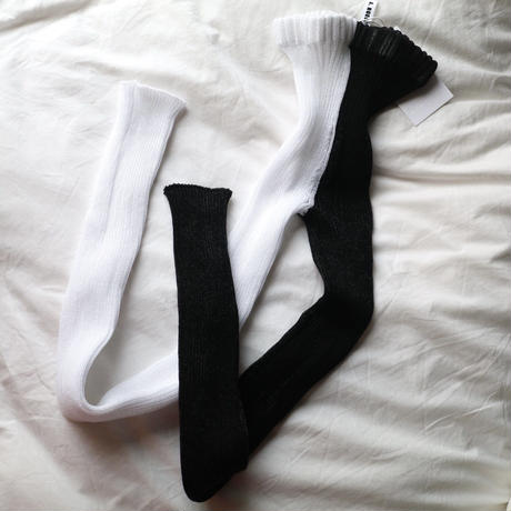 Double tights black/white