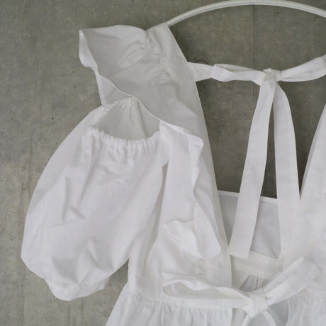 pure apron blouse  white