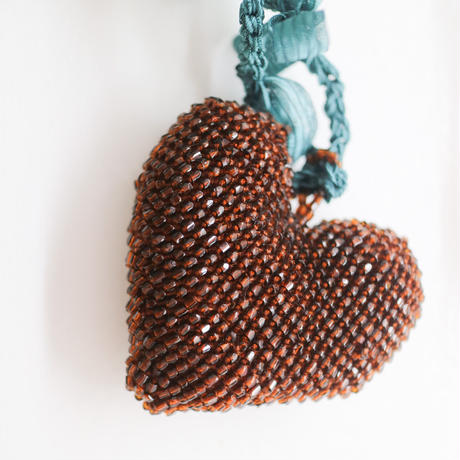 Big Heart Necklace Brown/Green