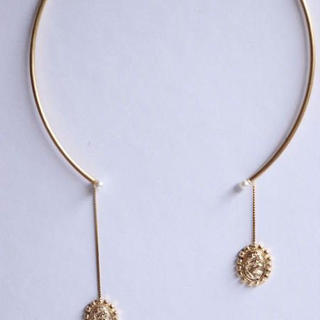 METAL collection[CAMEO gold   necklace]