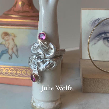 """JULIE WOLFE"" Silve Snake Ring"