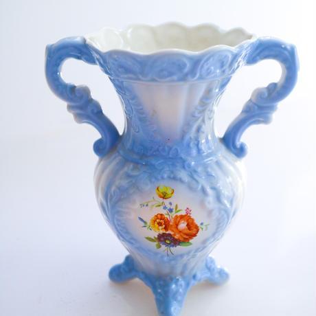 Vintage blue flower vase