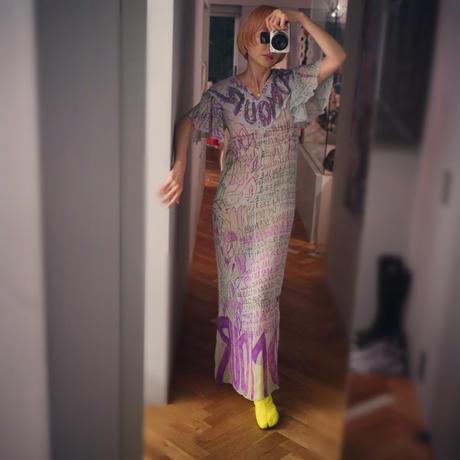 Frill Sleeve Dress