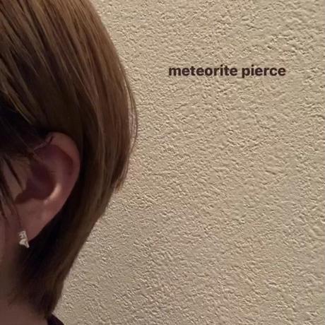 meteorite pierce / silver 925