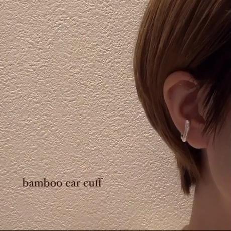 bamboo ear cuff / silver925