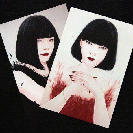 丁子紅子 オリジナルポストカード2枚セット!  B