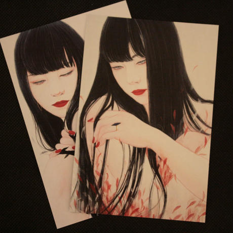 丁子紅子 オリジナルポストカード2枚セット! A