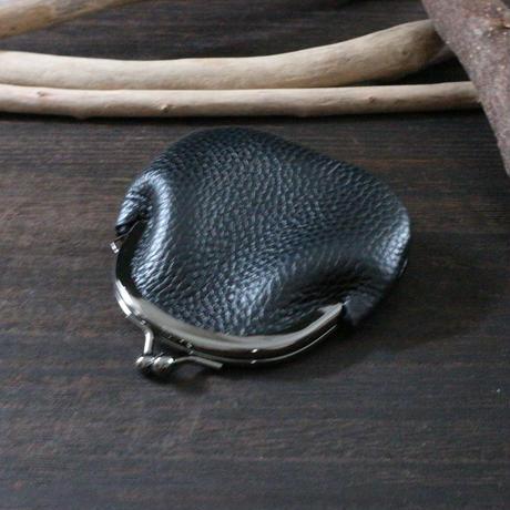 がまぐちコインケース ※イタリアンレザーオペラ 革色ブラック・ブルー