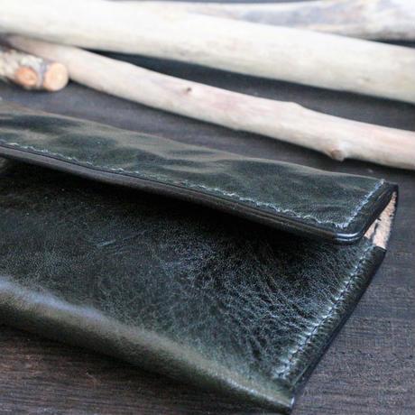 カードケース ※イタリアンレザーCORFU(コルフ) 革色ディープグリーン