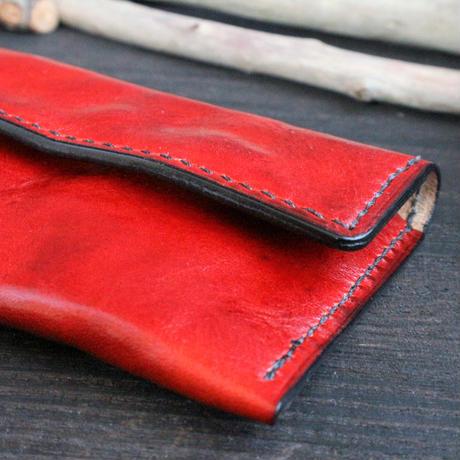 カードケース ※イタリアンレザーCORFU(コルフ) 革色レッド