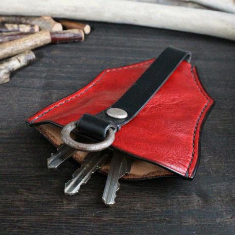 ベル型キーケース ※イタリアンレザーCORFU(コルフ) 革色レッド