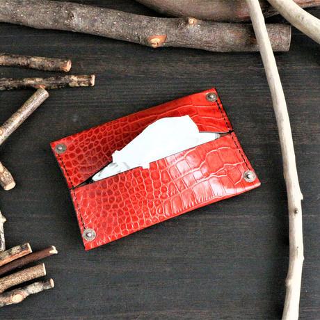 ポケットティッシュケース ※イタリアンレザーLIPARI(リパリ) 革色ブラック・ブルー・ダークブラウン・レッド