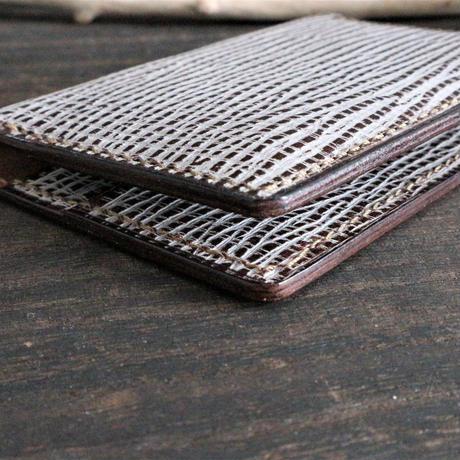 名刺・カード入れ(スリムタイプ) ※国産レザー・カリーノ 革色ブラウン