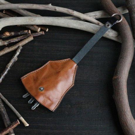 ベル型キーケース ※イタリアンレザーCORFU(コルフ) 革色キャメル