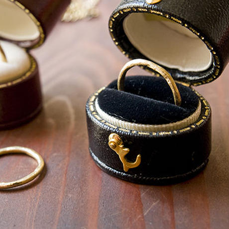 martine 月の指輪 ユニセックス K18 ゴールドリング【K18ゴールド】m036