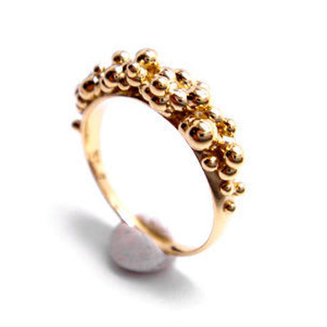 martine 華やかでボリュームたっぷりのゴールドリング/指輪 【K18ゴールド】m017